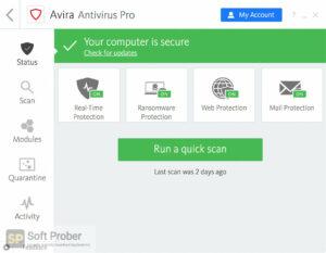 Avira Antivirus Pro 2019 Free Download-Softprober.com
