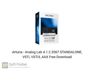 Arturia Analog Lab 4.1.2.3567 STANDALONE, VSTi, VSTi3, AAX Offline Installer Download-Softprober.com