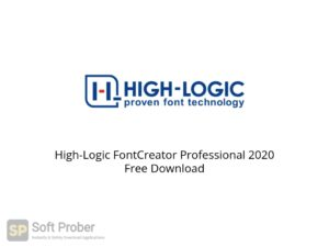 High Logic FontCreator Professional 2020 Offline Installer Download-Softprober.com