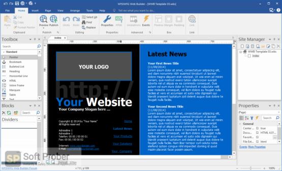 WYSIWYG Web Builder 15 Direct Link Download-Softprober.com