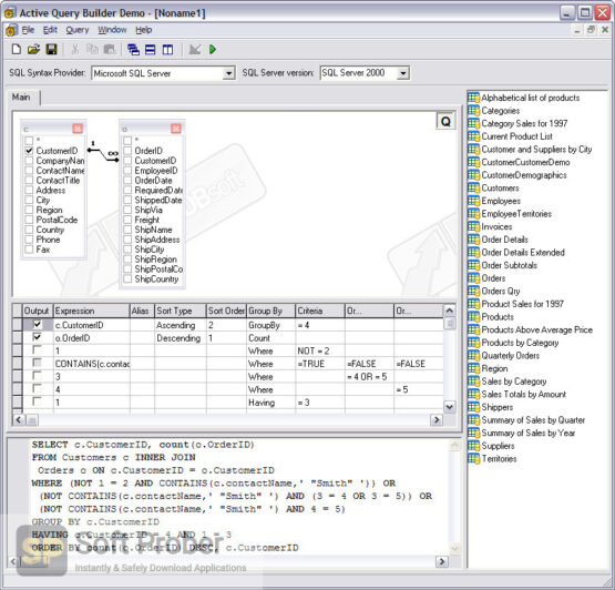 Active Query Builder VCL Latest Version Download-Softprober.com