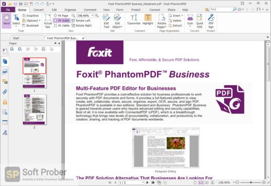Foxit PhantomPDF Business 2020 Direct Link Download-Softprober.com