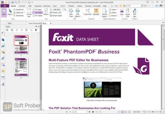 Foxit PhantomPDF Business 2020 Free Download-Softprober.com