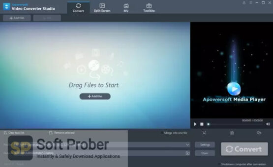 Apowersoft Video Converter Studio 2020 Direct Link Download-Softprober.com