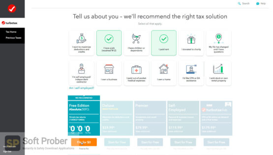 Intuit TurboTax 2020 All Editions Latest Version Download-Softprober.com