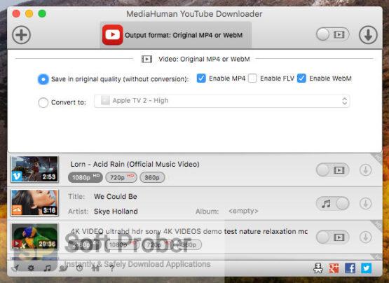 MediaHuman YouTube Downloader 2020 Direct Link Download-Softprober.com