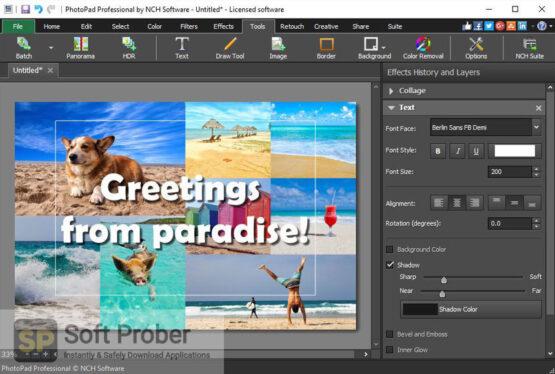 NCH PhotoPad Image Editor Professional 2020 Offline Installer Download-Softprober.com