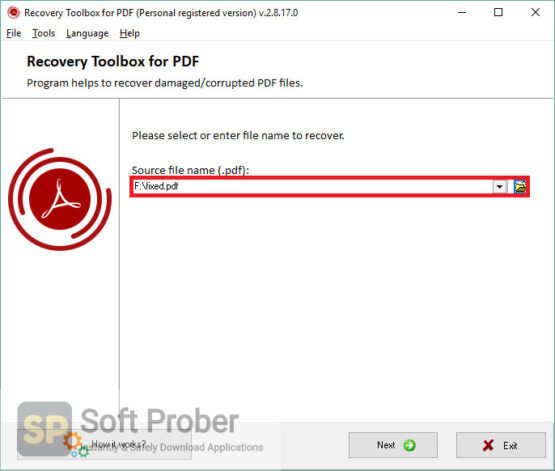 Recovery Toolbox for PDF 2020 Direct Link Download-Softprober.com
