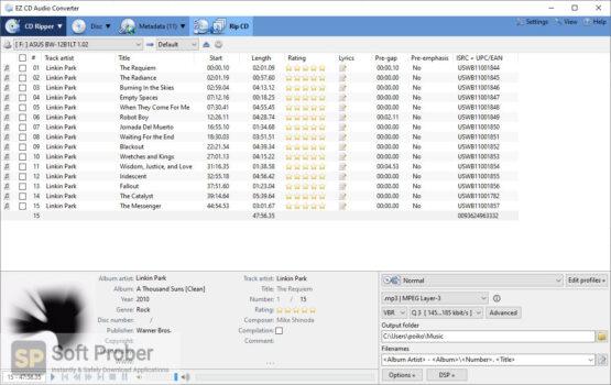 EZ CD Audio Converter 2020 Latest Version Download-Softprober.com