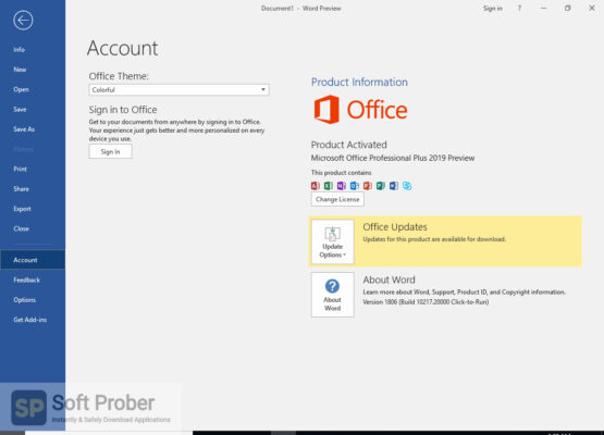 Microsoft Office Professional Plus 2016 2019 Offline Installer Download-Softprober.com