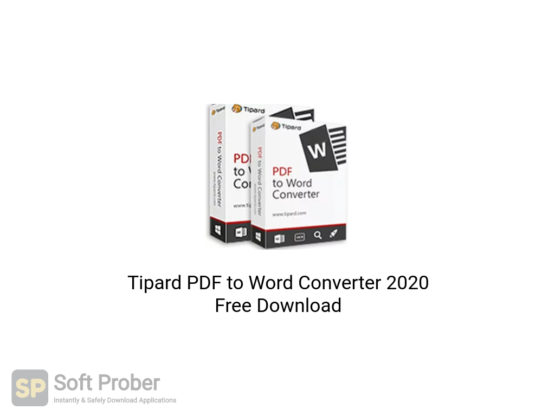 Tipard PDF to Word Converter 2020 Free Download-Softprober.com