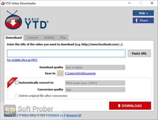 YTD Video Downloader 2020 Direct Link Download-Softprober.com