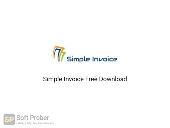 Simple Invoice 2020 Free Download-Softprober.com