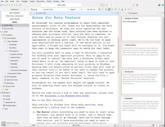 Scrivener 2021 Latest Version Download-Softprober.com