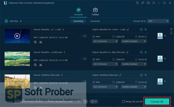 VideoSolo Video Converter Ultimate 2021 Offline Installer Download-Softprober.com