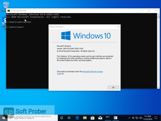 Windows 10 Pro en US v1909 x64 2021 Latest Version Download-Softprober.com