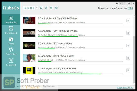 iTubeGo YouTube Downloader 2021 Direct Link Download-Softprober.com