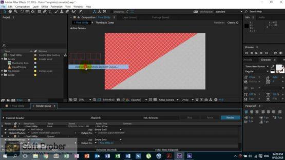 Adobe After Effects CC 2015 Offline Installer Download-Softprober.com