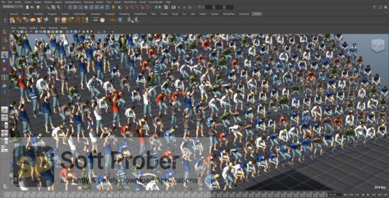 Golaem Crowd for Maya 2021 Latest Version Download-Softprober.com