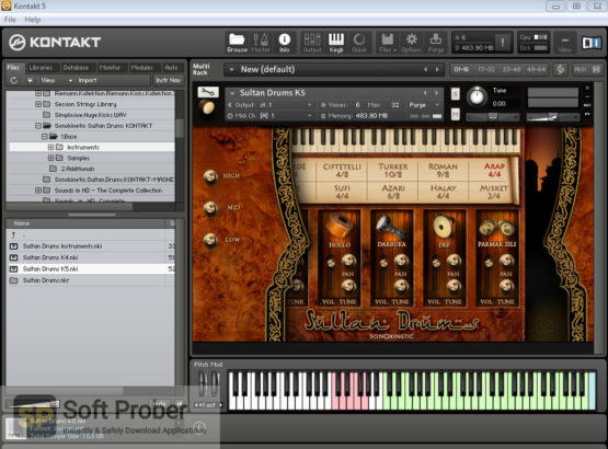 Sonokinetic Sultan Drums: Middle Eastern Percussion Direct Link Download-Softprober.com