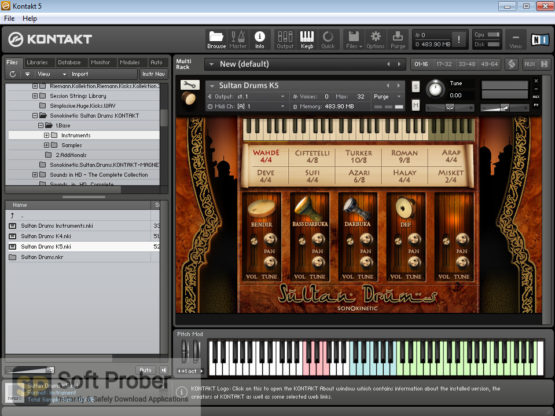 Sonokinetic Sultan Drums: Middle Eastern Percussion Latest Version Download-Softprober.com