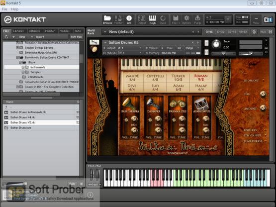 Sonokinetic Sultan Drums: Middle Eastern Percussion Offline Installer Download-Softprober.com