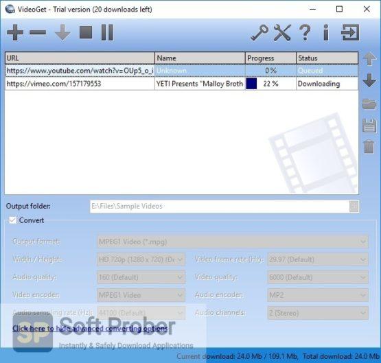 VideoGet YouTube Downloader 2021 Latest Version Download-Softprober.com