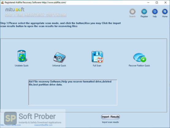 Aidfile Recovery Software 2021 Offline Installer Download-Softprober.com