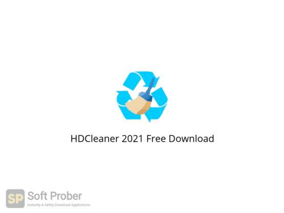 HDCleaner 2021 Free Download-Softprober.com