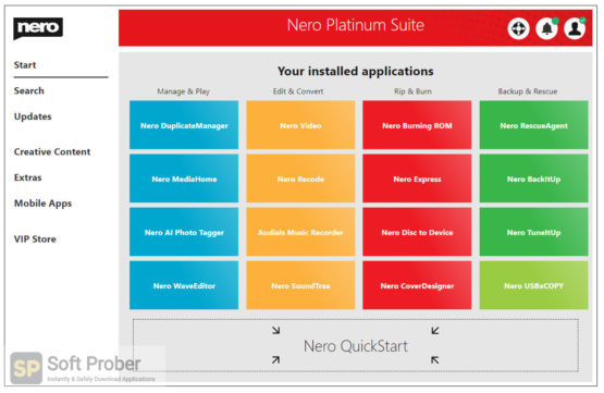 Nero Platinum Suite 2021 with Content Packs Offline Installer Download-Softprober.com