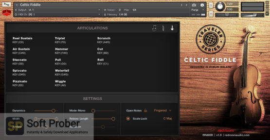 Red Room Audio Traveler Series Celtic Fiddle Direct Link Download-Softprober.com