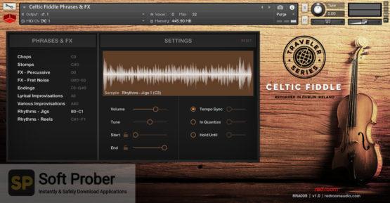 Red Room Audio Traveler Series Celtic Fiddle Latest Version Download-Softprober.com