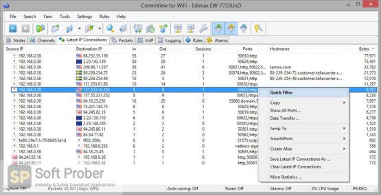 TamoSoft CommView for WiFi 2021 Offline Installer Download-Softprober.com