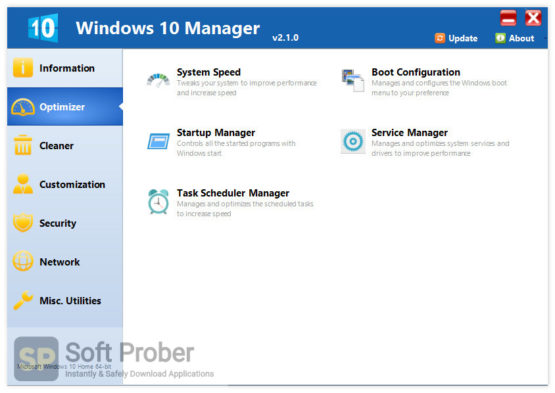 Yamicsoft Windows 10 Manager 2021 Latest Version Download-Softprober.com