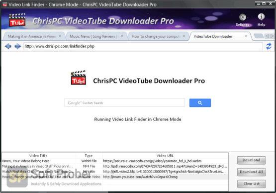 ChrisPC VideoTube Downloader Pro 2021 Latest Version Download-Softprober.com