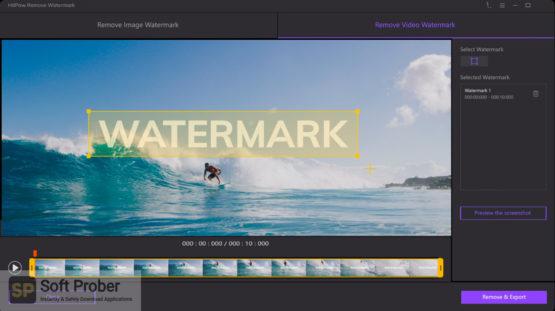 HitPaw Watermark Remover 2021 Offline Installer Download-Softprober.com