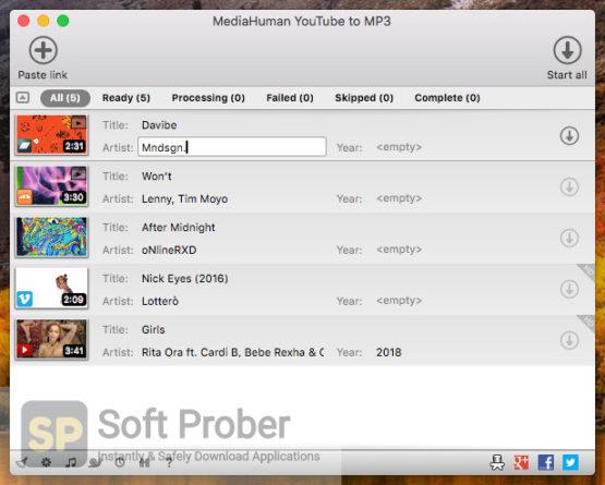 MediaHuman YouTube to MP3 Converter 2021 Direct Link Download-Softprober.com