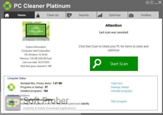 PC Cleaner Pro 2021 Offline Installer Download-Softprober.com