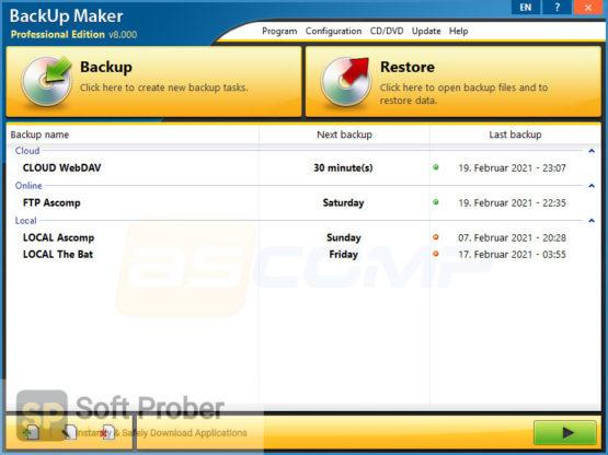 BackUp Maker Professional 2021 Direct Link Download-Softprober.com