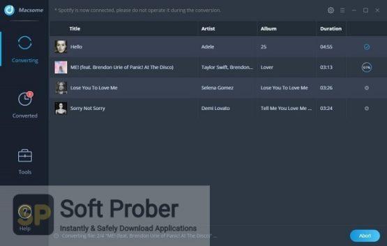 Macsome Spotify Downloader 2021 Latest Version Download-Softprober.com