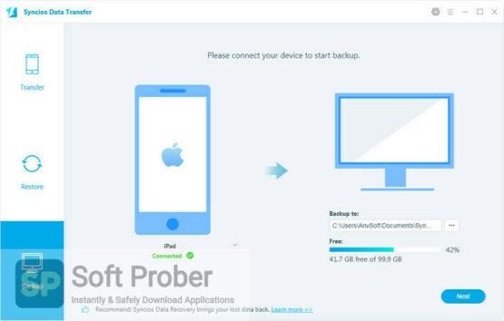 Syncios Data Transfer 2021 Offline Installer Download-Softprober.com