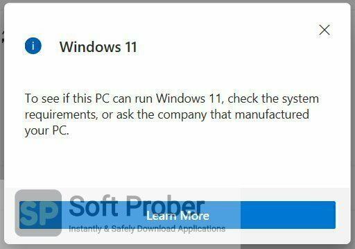 WhyNotWin11 2021 Latest Version Download-Softprober.com