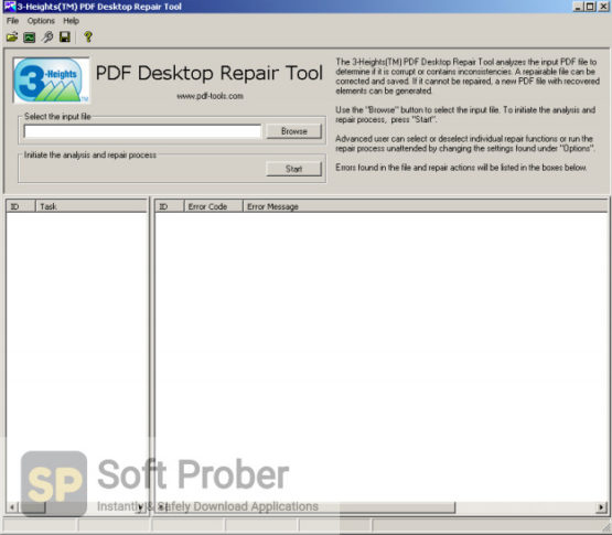 3 Heights PDF Desktop Repair Tool Direct Link Download-Softprober.com