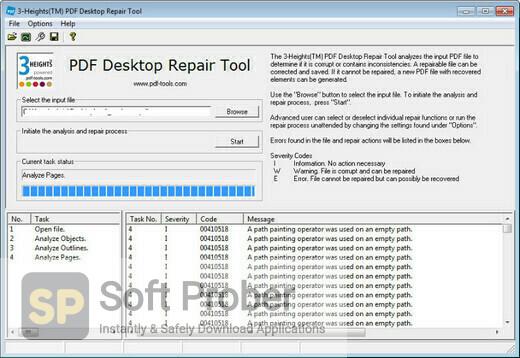 3 Heights PDF Desktop Repair Tool Offline Installer Download-Softprober.com