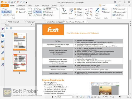 Foxit Reader 2021 Latest Version Download-Softprober.com
