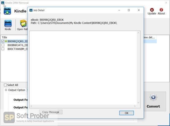 Kindle DRM Removal 2021 Latest Version Download-Softprober.com