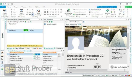 SDL Trados Studio 2021 SR1 Professional 2021 Direct Link Download-Softprober.com