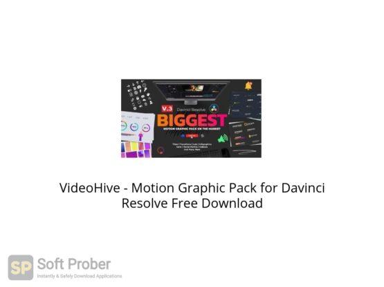 VideoHive Motion Graphic Pack for Davinci Resolve Free Download Softprober.com