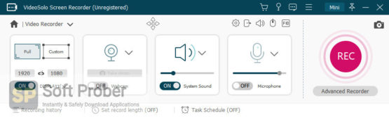 VideoSolo Screen Recorder 2021 Latest Version Download Softprober.com