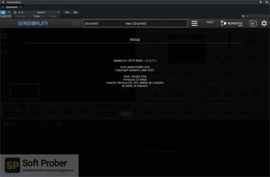 Apisonic Labs Speedrum Offline Installer Download Softprober.com